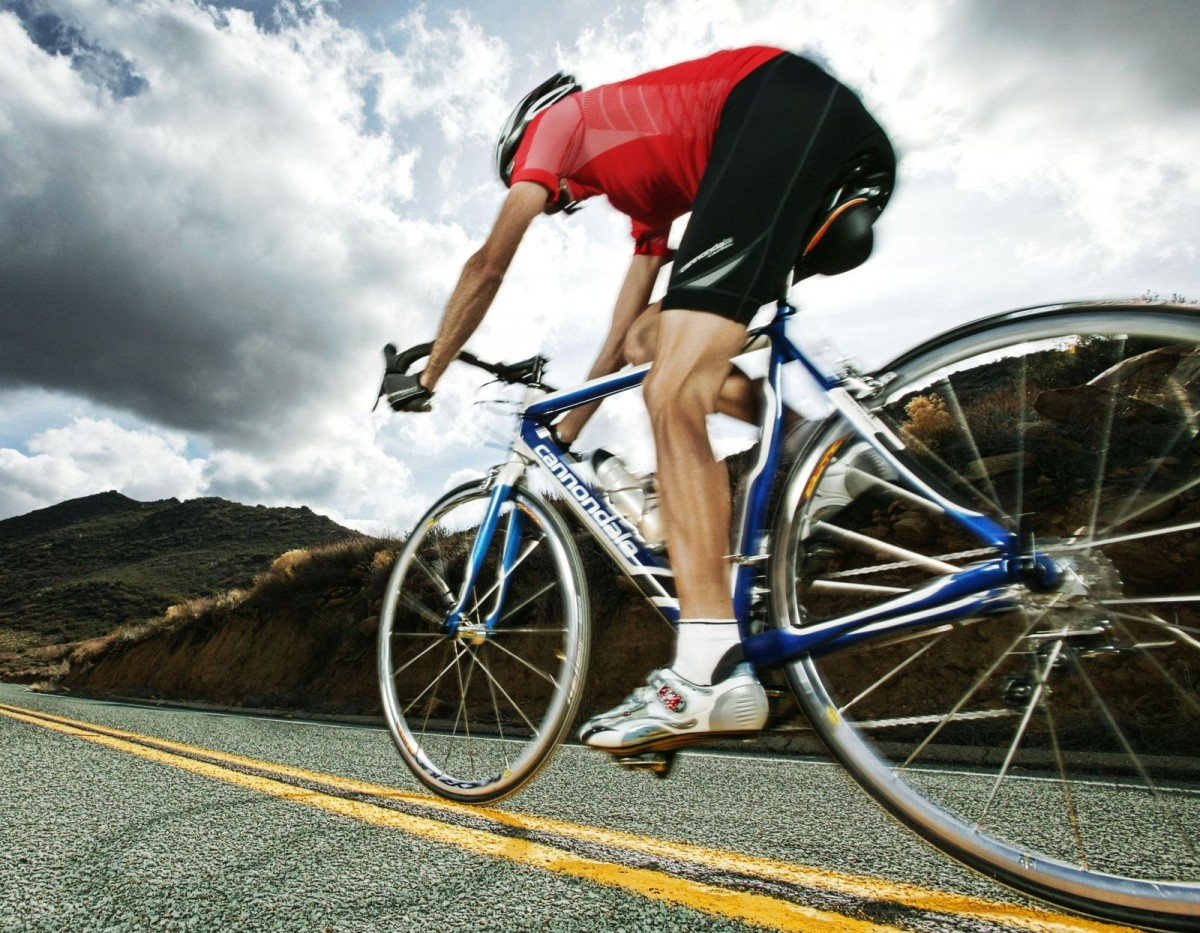 Cadencia pedalada ciclista